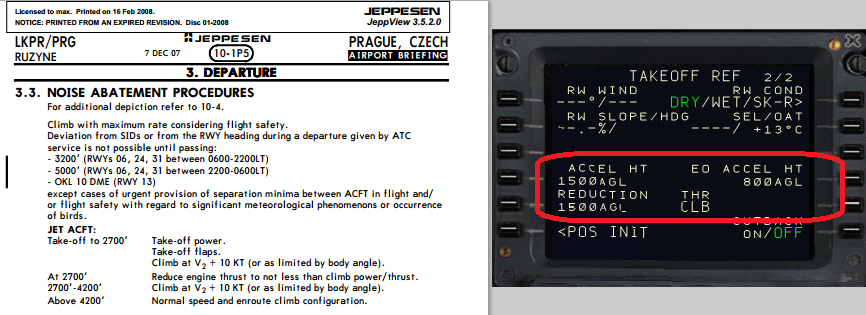 Noise Abatement from charts into FMC - PMDG 737NGX - The